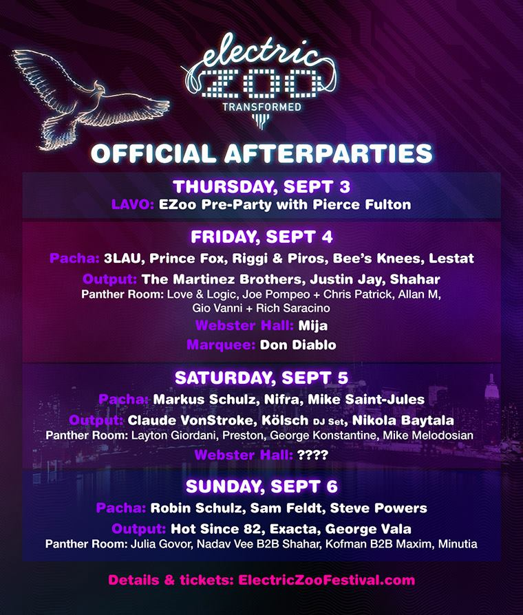 Electric Zoo After Parties