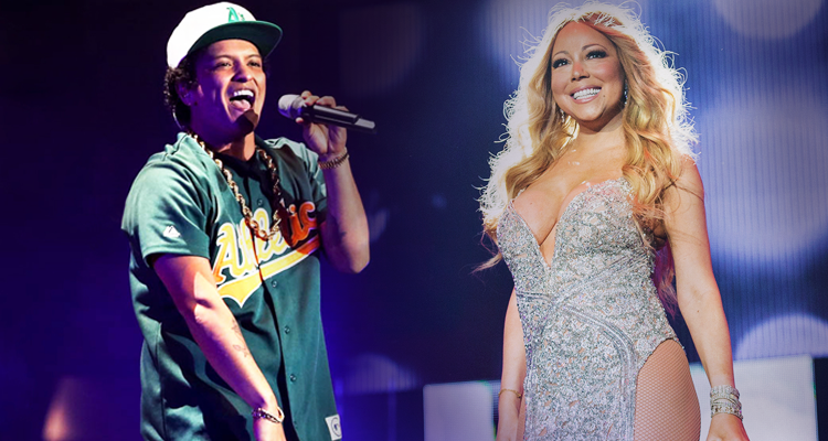 Bruno Mars Amp Mariah Carey Collide In Versace On The Floor