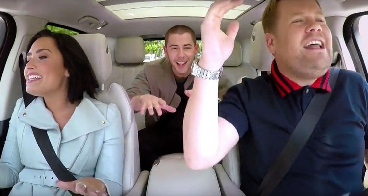 Demi Lovato Nick Jonas Carpool Karaoke