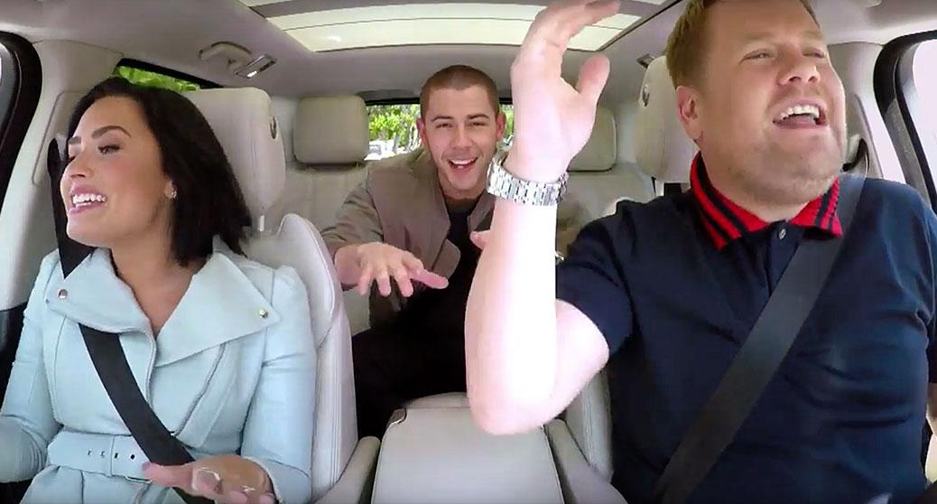 Demi Lovato Nick Jonas Carpool Karaoke