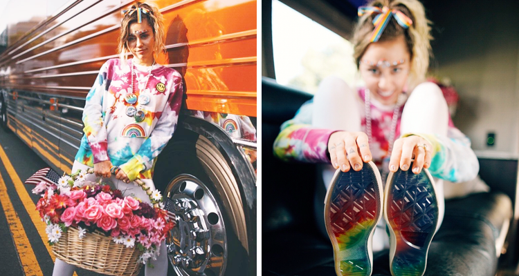 b3dcde48066e8b Miley Cyrus Collaborates With Converse For LGBTQ Pride Collection